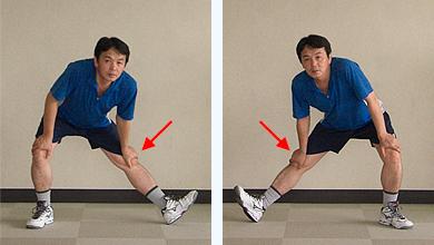 ⑥膝伸ばし(左右)